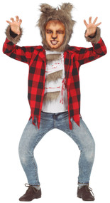 Boys Scary Werewolf Fancy Dress Costume