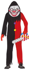 Mens Evil Smiling Clown Fancy Dress Costume