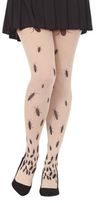 Ladies Cockroach Fancy Dress Tights