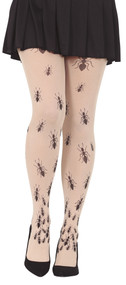 Ladies Crawling Ants Fancy Dress Tights