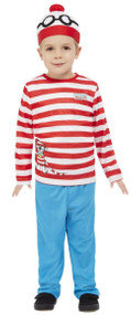 Toddler Boys Where's Wally Fancy Dress Costume