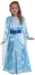 Girls Wintry Princess Fancy Dress Costume