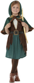 Girls Deluxe Forest Archer Fancy Dress Costume