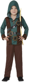 Boys Deluxe Forest Archer Fancy Dress Costume