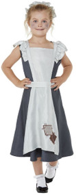Girls Victorian Maid Fancy Dress Costume 3