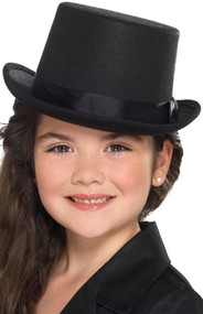 Child's Black Fancy Dress Top Hat