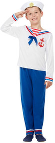 Boys Sea Sailor Fancy Dress Costume