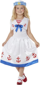 Girls Sea Sailor Fancy Dress Costume