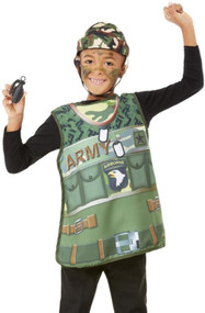 Boys Army Fancy Dress Costume Kit