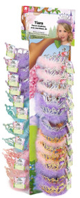36 x Girls Princess Party Marabou Tiaras