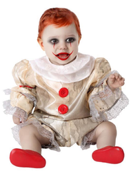Baby Vintage Horror Clown Fancy Dress Costume