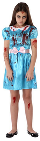 Girls Evil Twin Fancy Dress Costume