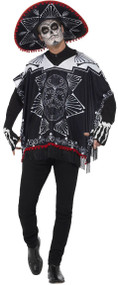 Adult Day of the Dead Bandit Fancy Dress Costume
