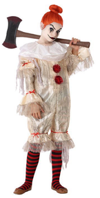 Girls Horror Clown Fancy Dress Costume