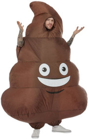 Adult Inflatable Poo Fancy Dress Costume