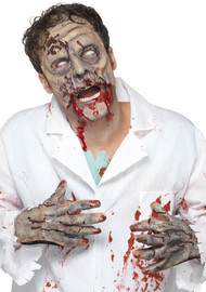 Adult Zombie Mask & Gloves Costume Kit