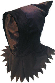 Adult Black Halloween Hood & Mask