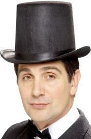 Adult Black Stovepipe Top Hat
