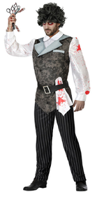 Mens Bloody Hairdresser Fancy Dress Costume