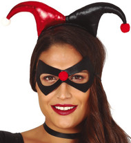 Ladies Red Black Jester Hairband