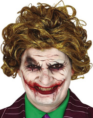 Mens Smiling Jester Costume Wig