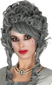 Ladies Grey Renaissance Costume Wig