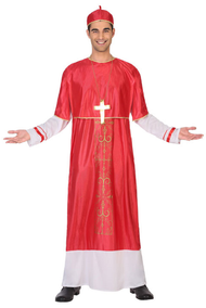 Mens Holy Cardinal Fancy Dress Costume
