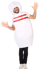 Adults Bowling Pin Fancy Dress Costume