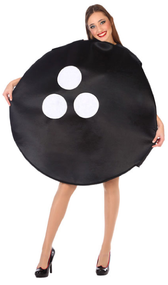 Adults Bowling Ball Fancy Dress Costume