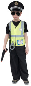 Boys Police Fancy Dress Costume Kit