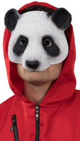 Adult Half Face Panda Fancy Dress Mask