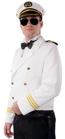 Mens White Sailor Fancy Dress Jacket