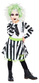 Girls Beetlejuice Fancy Dress Costume