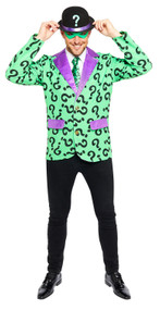 Mens The Riddler Fancy Dress Costume