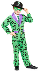 Boys The Riddler Fancy Dress Costume