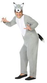 Adults Grey Wolf Fancy Dress Costume