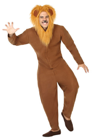 Adults Furry Lion Fancy Dress Costume