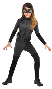 Girls Catwoman DC Fancy Dress Costume
