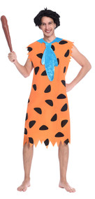 Mens Fred Flintstone Caveman Fancy Dress Costume