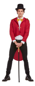 Adults Red Ringmaster Fancy Dress Jacket