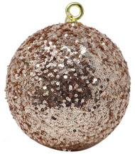 Oversized 20cm Rose Gold Sequin Bauble