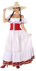 Ladies Traditional Mexican Fancy Dress Costume