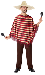 Mens Traditional Mexican Fancy Dress Costume