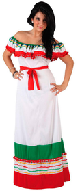 Ladies Mexican Fiesta Fancy Dress Costume