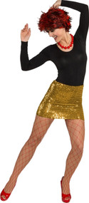 Ladies Gold Sequinned Mini Skirt