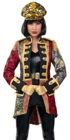 Ladies Red/Gold Military Jacket