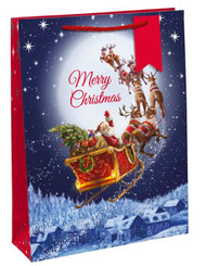 2 X X-large Traditional Santa Christmas Gift Bags