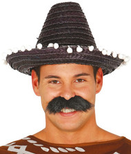 Adult Black Sombrero Hat