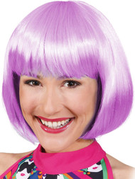 Ladies Purple Straight Bob Wig