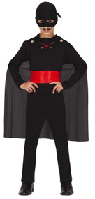 Boys Masked Dark Bandit Fancy Dress Costume